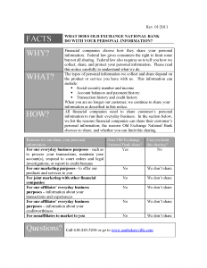 OENB Privacy Policy Page 1