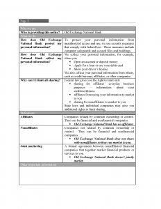 OENB Privacy Policy Page 2